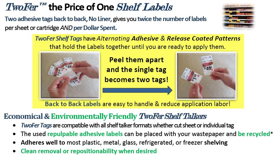 Image of Product Card For TwoFer­™ Shelf Tags